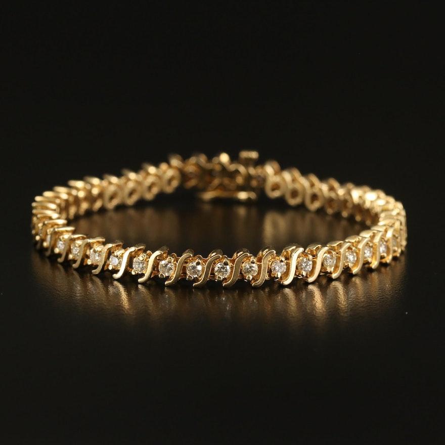 14K 2.45 CTW Diamond Bracelet