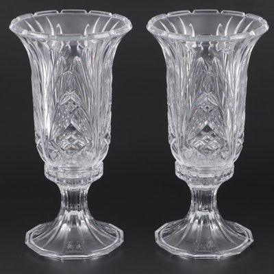 Crystal Candlesticks with Hurricanes, Late 20th Century