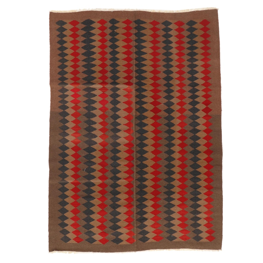 6'5 x 8'9 Handwoven Afghan Kilim Wool Area Rug