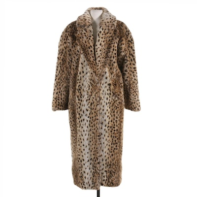 Shaytoon by OCU Faux Fur Leopard Print Coat