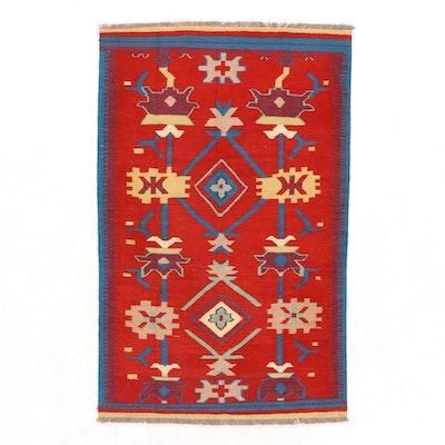 4' x 6'5 Handwoven Afghan Kilim Area Rug
