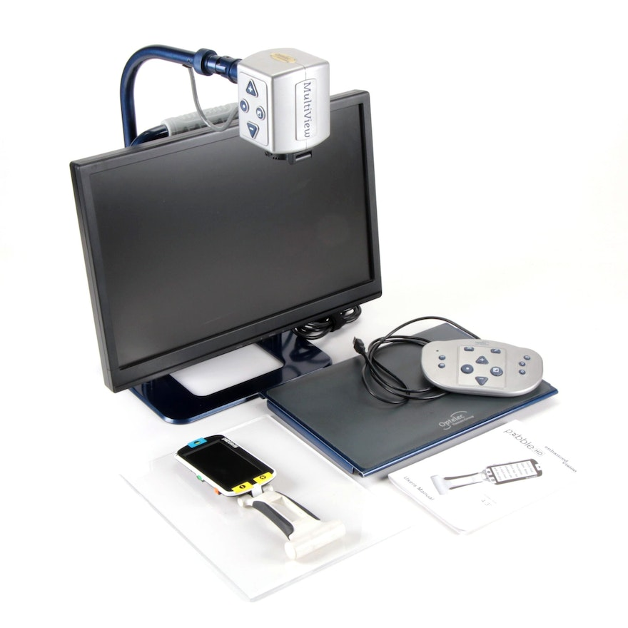 Optelec Multiview Electronic Video Magnifier and Pebble HD Magnifier