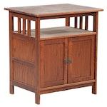 Craftsman Style Oak Entertainment Cabinet