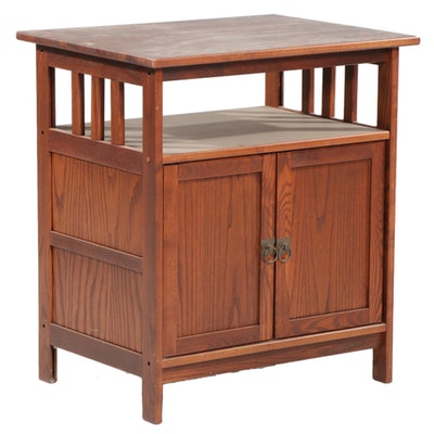 Craftsman Style Oak Entertainment Cabinet