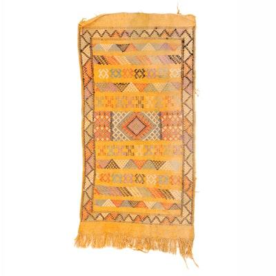 1'6 x 3'1 Handwoven Moroccan Sabra Kilim Accent Rug
