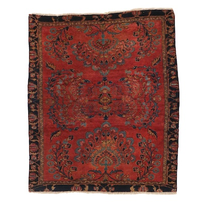4'7 x 5'7 Hand-Knotted Persian Lilihan Area Rug