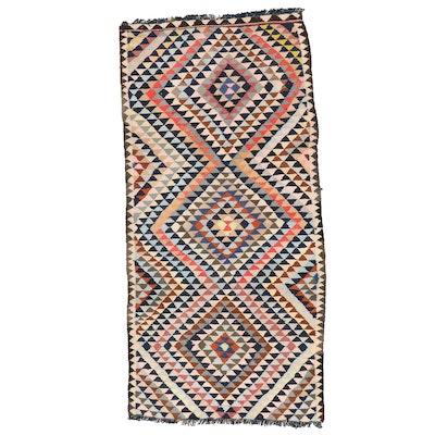 4'2 x 8'8 Handwoven Persian Kilim Area Rug