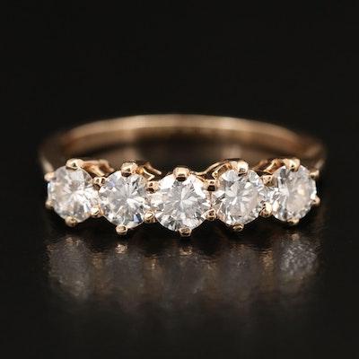 14K 1.05 CTW Diamond Five Stone Ring