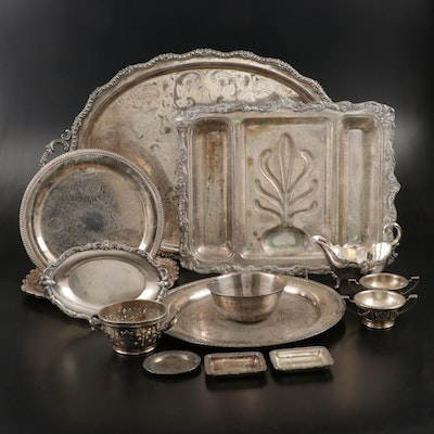 Reed & Barton, Towle, and Other Silver Plate Serveware,  Early to Mid 20th C.
