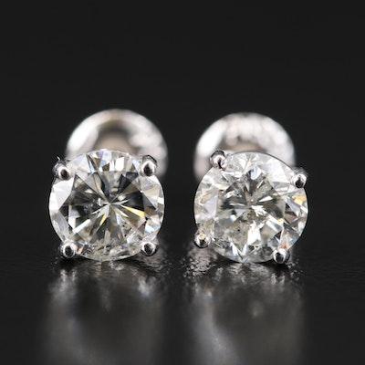 Platinum 2.06 CTW Diamond Stud Earrings