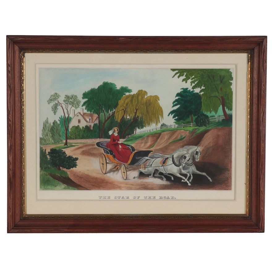 Betty Haynes Baker Watercolor Painting after Currier & Ives