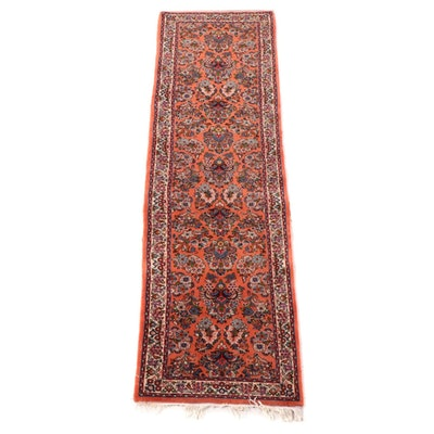 2'9 x 10'7 Hand-Knotted Persian Arak Wool Carpet Runner