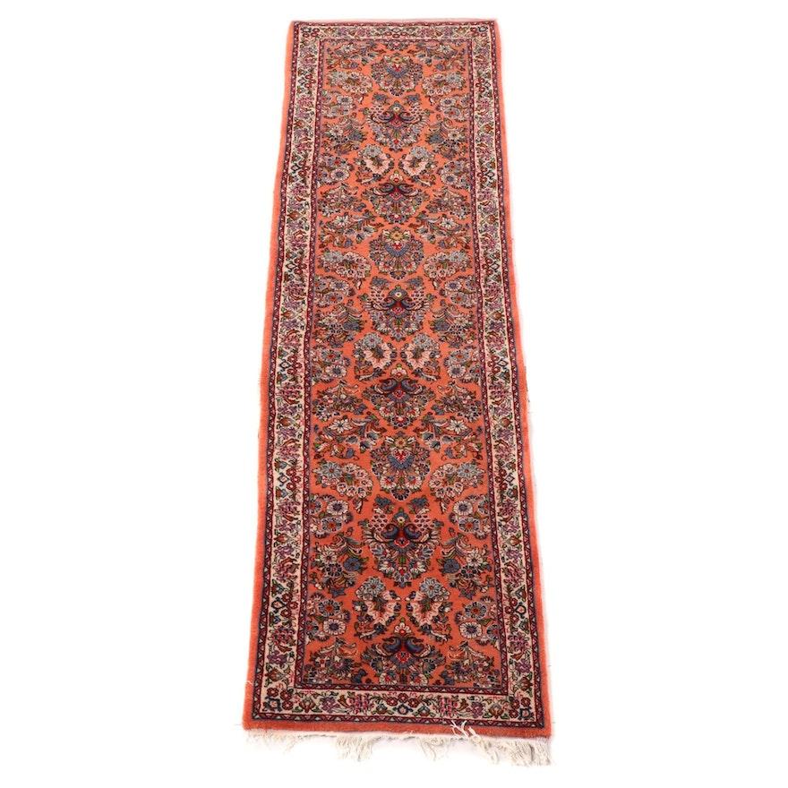 2'9 x 10'7 Hand-Knotted Persian Arak Wool Carpet Runner