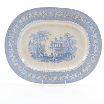 "Brownfield & Sons ""Palmyra"" Ironstone Platter, Late 19th Century"