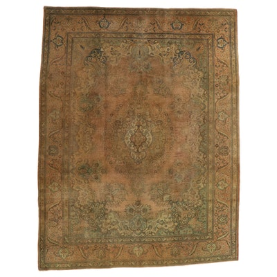 9'11 x 13' Hand-Knotted Persian Tabriz Wool Room Sized Rug
