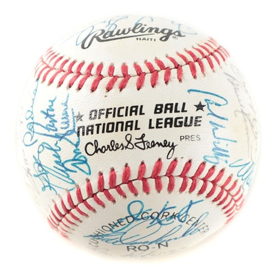 1984 Cincinnati Reds Rawlings National League Team Signed Baseball, with COA