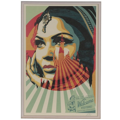"Shepard Fairey Offset Print ""Target Exceptions,"" 2021"
