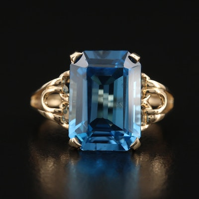 14K 8.97 CT Topaz Ring