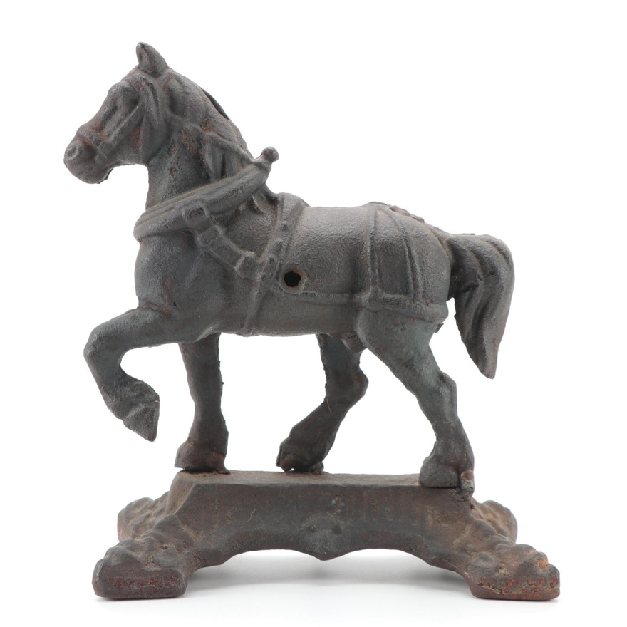 Cast Iron Horse Figure, 20th Century