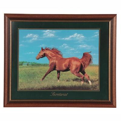 "Tony Leonard Offset Lithograph ""Secretariat,"" 2002"