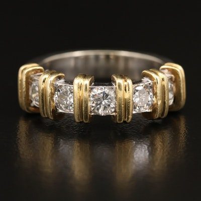 14K Two-Tone 1.10 CTW Diamond Band