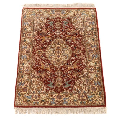 4'1 x 6'6 Hand-Knotted Persian Tabriz Wool Area Rug