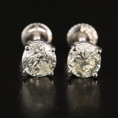 Platinum 2.05 CTW Diamond Stud Earrings