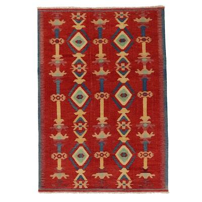 5'7 x 7'10 Handwoven Afghan Kilim Area Rug