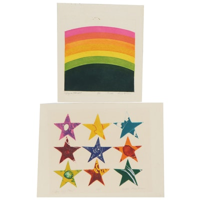 Sheila Bonser Relief Collagraphs, 1981 - 1982