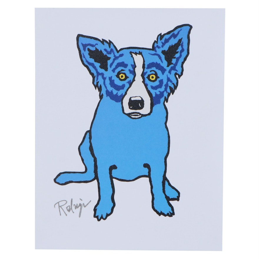 Giclée after George Rodrigue of Blue Dog, 21st Century