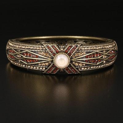 Heidi Daus Rhinestone Clamper Bracelet