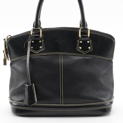 Louis Vuitton Lockit PM Satchel in Black Suhali Leather