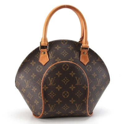 Louis Vuitton Ellipse PM Bag in Monogram Canvas and Natural Leather Trim