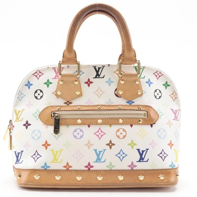Louis Vuitton Alma PM in White Monogram Multicolore Canvas