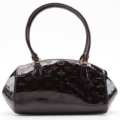 Louis Vuitton Sherwood PM Bowler Bag in Amarante Monogram Vernis
