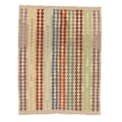 4'11 x 6'7 Handwoven Turkish Village Kilim Rug, 2010s