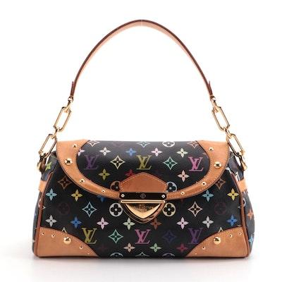 Louis Vuitton Beverly MM Shoulder Bag in Black Monogram Multicolore