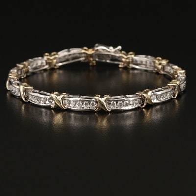10K 2.10 CTW Diamond Two-Tone Bracelet