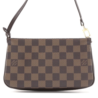 Louis Vuitton Navona Pochette Accessory in Damier Ebene Canvas