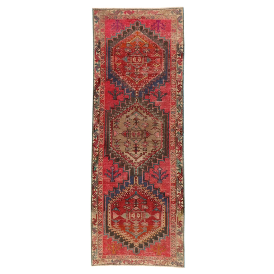 3'5 x 9'9 Hand-Knotted Northwest Persian Long Rug, 1950s