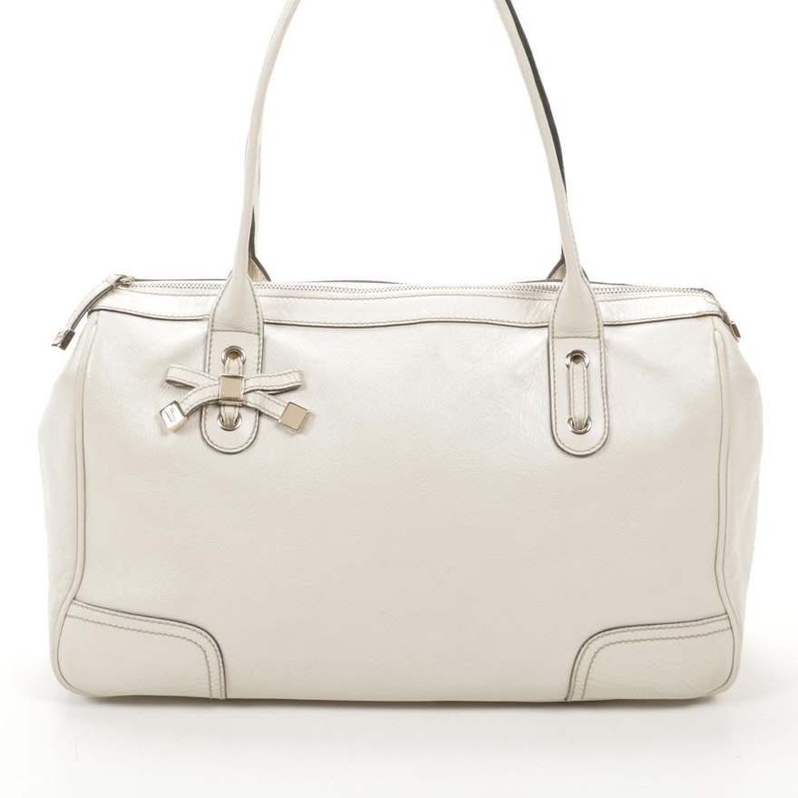 Gucci Princy Tote in White Leather