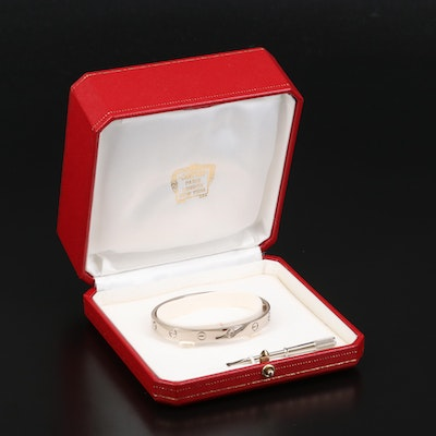 "Cartier ""Love"" 18K Bangle with Box and Hardware"