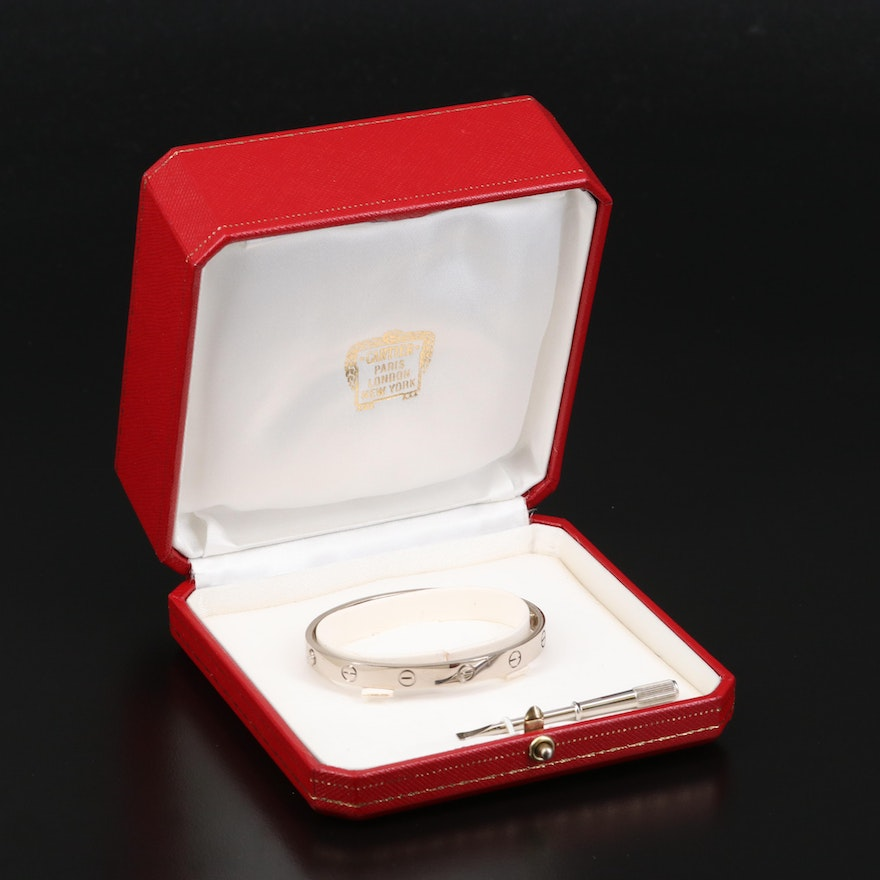 """Cartier """"Love"""" 18K Bangle with Box and Hardware"""
