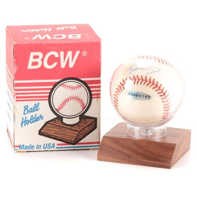 Ken Griffey Jr. Signed Rawlings American League Baseball, with Upper Deck COA