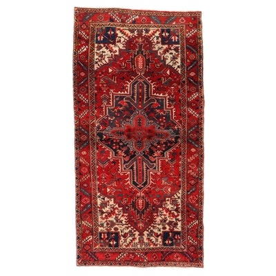 4'2 x 8'2 Hand-Knotted Persian Heriz Area Rug