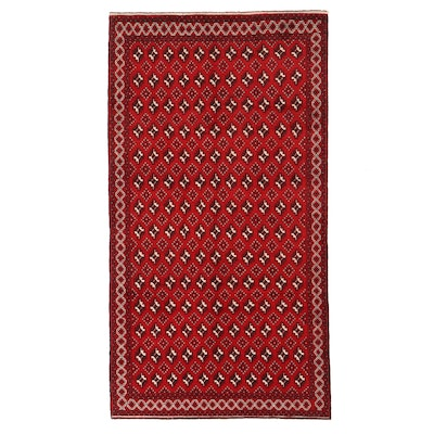 5'2 x 9'7 Hand-Knotted Afghan Turkmen Area Rug