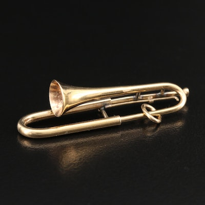 Articulated 14K Trombone Charm