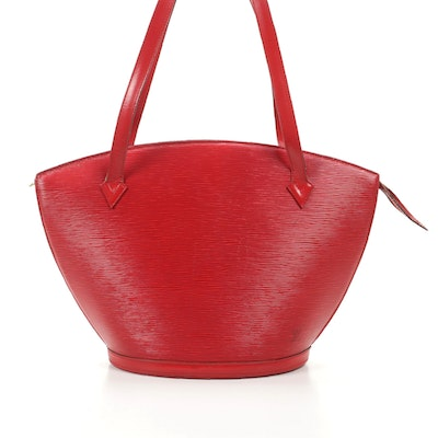 Louis Vuitton Saint Jacques Tote in Red Epi Leather