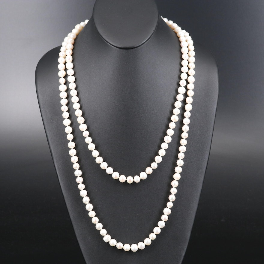 Endless Rope Length Pearl Strand