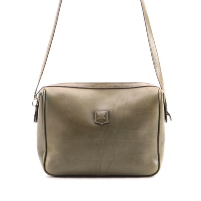 Celine Olive Green Leather Shoulder Bag
